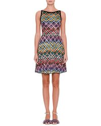 Missoni - Sleeveless Flared Zigzag Dress - Lyst