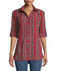 Finley - Joey Plaid Roll-tab Shirt - Lyst