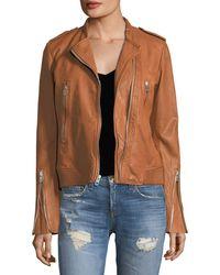 Rag & Bone - Lyon Zip-front Leather Jacket - Lyst