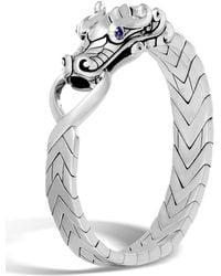 John Hardy - Men's Sterling Silver Legends Naga Bracelet With Sapphire Eyes - Lyst