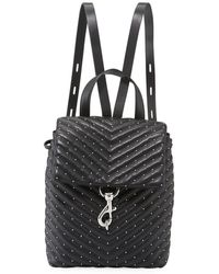 Rebecca Minkoff - Edie Quilted Leather Flap Backpack - Lyst