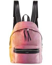 Saint Laurent - Large Tie-dye Satin Backpack - Lyst