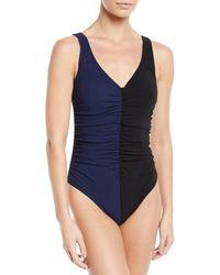 Karla Colletto - Sorella Two-tone Underwire One-piece Swimsuit - Lyst