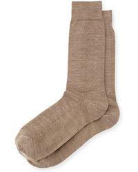Neiman Marcus | Wool Micro Dot-print Socks | Lyst