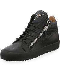 0f686ae234327 Lyst - Giuseppe Zanotti Men s Patent Leather Low-top Sneaker in ...