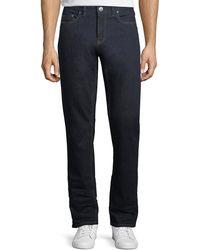 Ermenegildo Zegna | Stretch-denim Straight-leg Luxury Jeans | Lyst