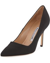 Manolo Blahnik - Bb Crepe 90mm Pump - Lyst