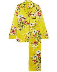 Olivia Von Halle - Lila Floral-print Silk-satin Pyjama Set - Lyst