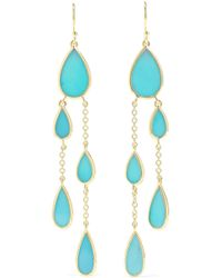 Ippolita - Polished Rock Candy 18-karat Gold Turquoise Earrings - Lyst