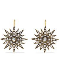 Sylva & Cie - 18-karat Gold Diamond Earrings - Lyst