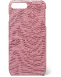 The Case Factory - Lizard-effect Leather Iphone 7 And 8 Plus Case - Lyst