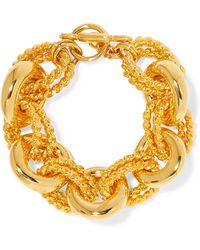 Kenneth Jay Lane - Gold-tone Bracelet Gold One Size - Lyst