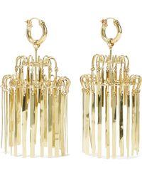 Ellery - Veil Xl Chandelier Gold-plated Earrings - Lyst