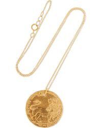 Alighieri - Il Leone Medallion Gold-plated Necklace - Lyst