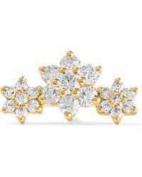 Maria Tash - Flower Garland 18-karat Gold Diamond Earring Gold One Size - Lyst