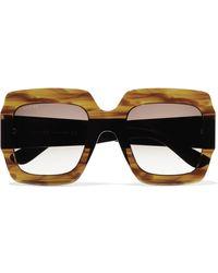 Gucci - Oversized Square-frame Tortoiseshell Acetate Sunglasses Tortoiseshell One Size - Lyst