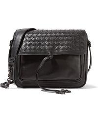 Bottega Veneta - Saddle Small Intrecciato Leather Shoulder Bag - Lyst
