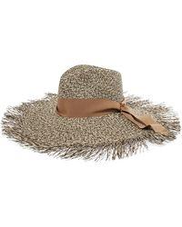Sensi Studio - Two-tone Frayed Toquilla Straw Hat - Lyst