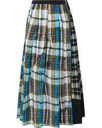 Marc Jacobs - Patchwork Plaid Silk Crepe De Chine Skirt - Lyst