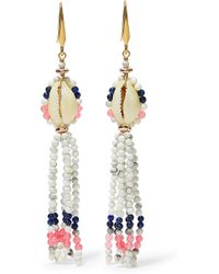 Isabel Marant - Tasselled Bead And Shell Earrings - Lyst
