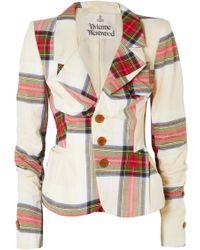 Vivienne Westwood - Tartan Cotton Blazer - Lyst