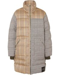 3.1 Phillip Lim - Reversible Oversized Panelled Checked Wool-blend Coat - Lyst