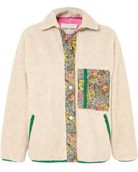 Sandy Liang - Bayside Floral Jacquard-paneled Fleece Jacket - Lyst