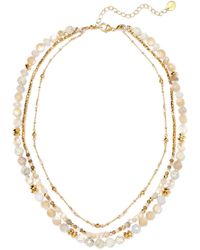 Chan Luu - Layered Gold-tone Stone Necklace - Lyst