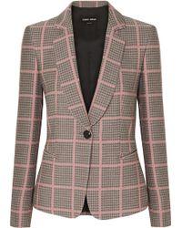 Giorgio Armani - Notched-collar One-button Plaid Classic Jacket - Lyst