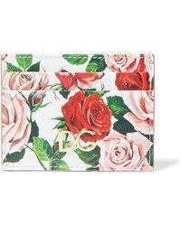 de Lyst floral textura Gabbana estampado de cuero con tarjeta Dolce qgOPZwZ