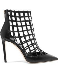 Jimmy Choo - Sheldon 100 Cutout Leather Ankle Boots - Lyst