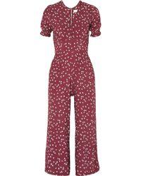 Faithfull The Brand - Bonnie Floral-print Piqué Jumpsuit - Lyst