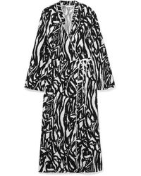 RIXO London - Cindy Zebra-print Crepe Wrap Dress - Lyst