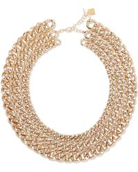 Rosantica - Ingranaggio Gold-tone Pearl Necklace Gold One Size - Lyst