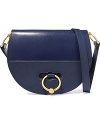 JW Anderson - Latch Smooth And Textured-leather Shoulder Bag - Lyst