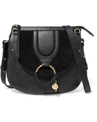 349663c431 See By Chloé - Hana Medium Textured-leather And Suede Shoulder Bag - Lyst