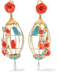 Of Rare Origin - Lovebirds Gold Vermeil Multi-stone Earrings - Lyst