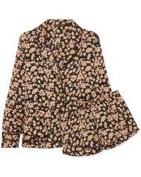 Love Stories - Bluemoon & Edie Floral-print Satin Pyjama Set - Lyst