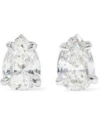 Anita Ko - 18-karat White Gold Diamond Earrings - Lyst