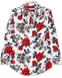 Equipment - Signature Floral-print Silk Crepe De Chine Shirt - Lyst