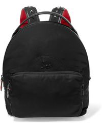 Christian Louboutin - Leather-trimmed Studded Shell Backpack - Lyst