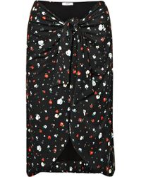 Ganni - Pineberry Floral-print Stretch-jersey Pareo - Lyst