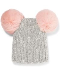 Eugenia Kim - Mimi Pompom-embellished Ribbed Wool-blend Beanie - Lyst
