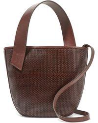 Tl-180 - Panier Saigon Woven Leather Shoulder Bag - Lyst