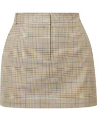 Tibi - Cooper Prince Of Wales Checked Wool And Silk-blend Mini Skirt - Lyst