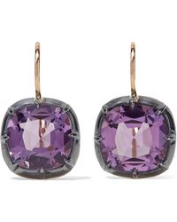 Fred Leighton - Collection 18-karat Gold Amethyst Earrings - Lyst
