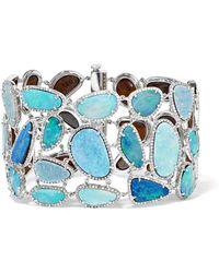 Amrapali - 18-karat White Gold, Opal And Diamond Bracelet - Lyst