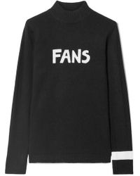 Bella Freud - Fans Intarsia Wool Turtleneck Jumper - Lyst