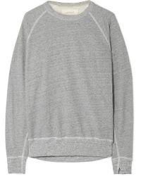 The Great - The College Distressed Cotton-blend Jersey Sweatshirt - Lyst