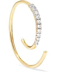 Maria Black - Loop 14-karat Gold Diamond Earring - Lyst